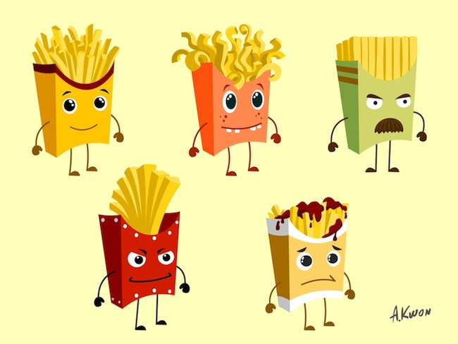 Animated french fries - photo#5